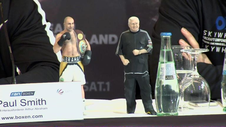 Action men or not? Paul Smith was given a gift by Arthur Abraham