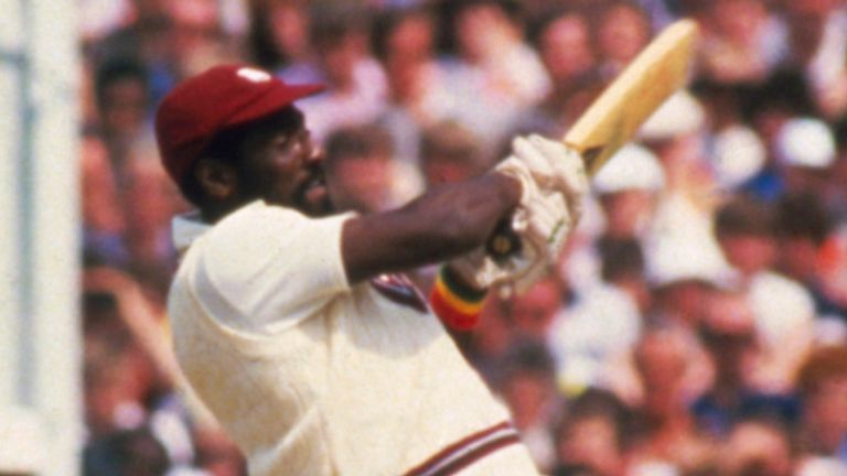 The Master Blaster struck 189 not out during an ODI at Old Trafford in 1984