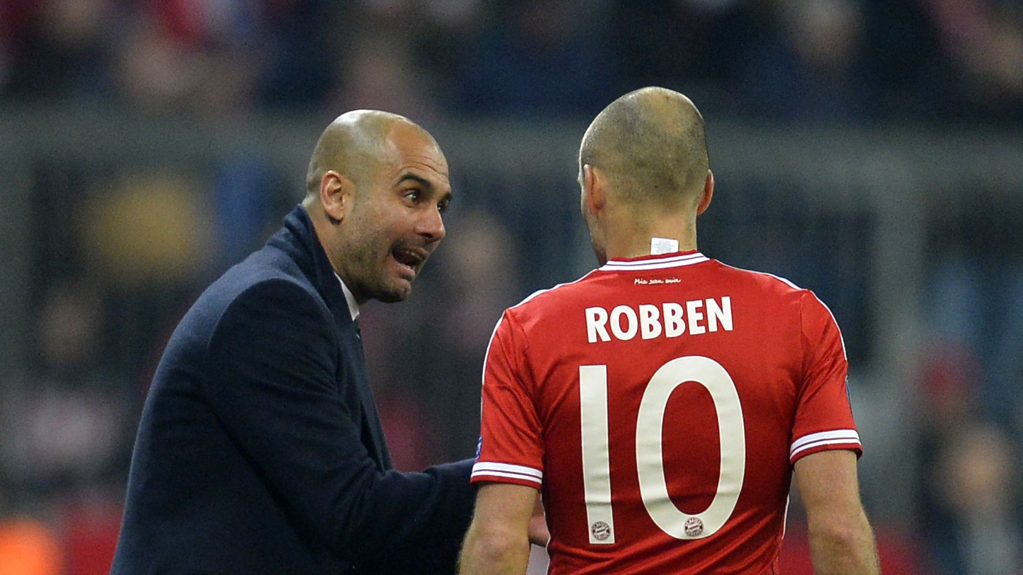 Image result for Robben and Guardiola