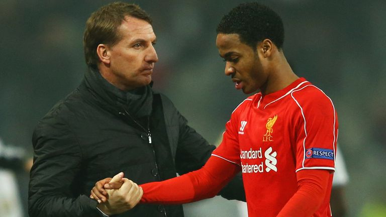 Raheem Sterling (right) has told Brendan Rodgers he does not want to play for him.