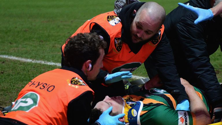 George North: Had to be stretchered off while Nathan Hughes was sent off