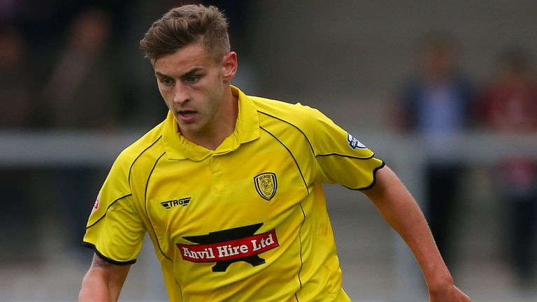 Jacob Blyth during a previous loan spell with Burton
