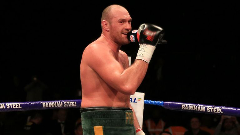 Tyson Fury has made a habit of singing after his victories