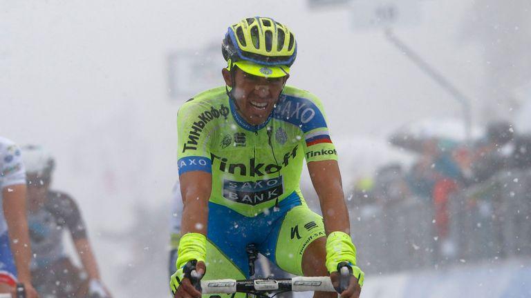 Alberto Contador's form has been inconsistent so far this season