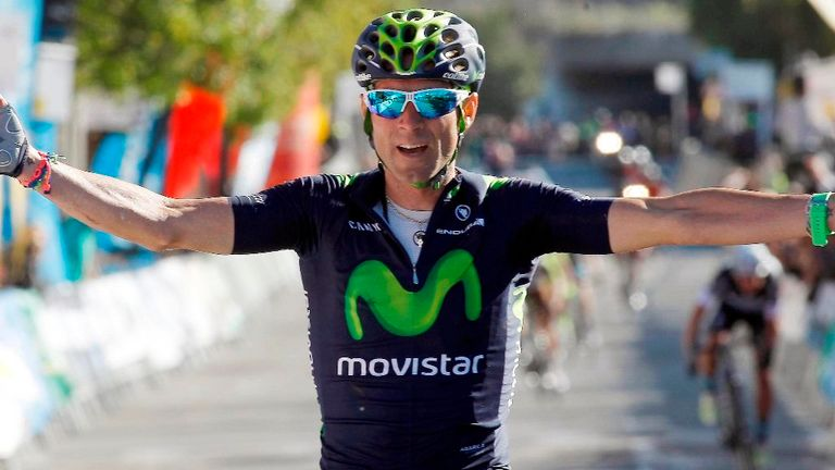 Alejandro Valverde claimed his second win of the race on stage five
