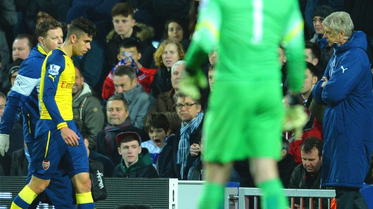 Arsenal's Gabriel suffered an injury against QPR