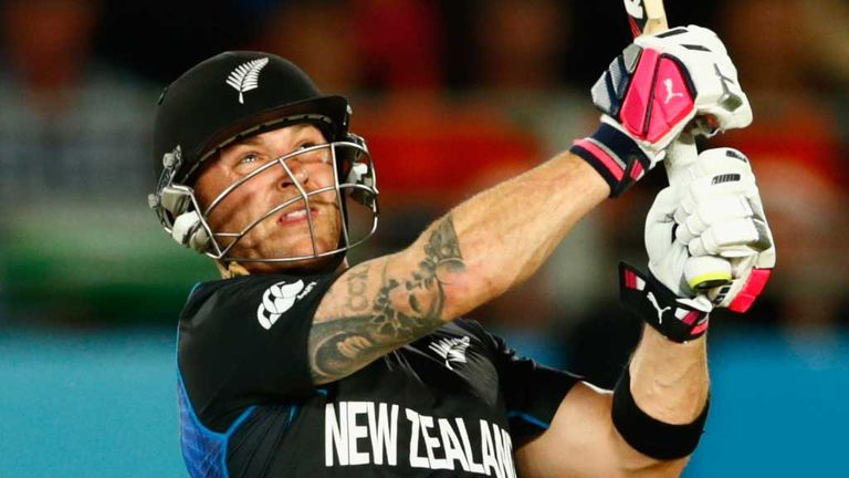 Brendon McCullum scored a rapid 50 as New Zealand beat Australia in Auckland earlier in the World Cup