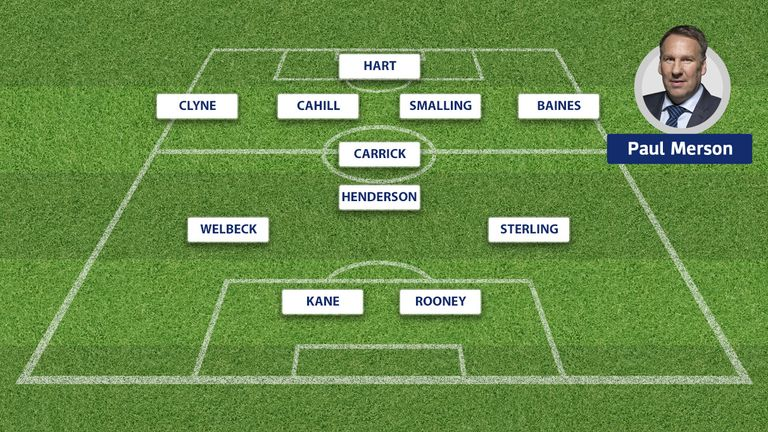 Paul Merson's England team to face Lithuania.