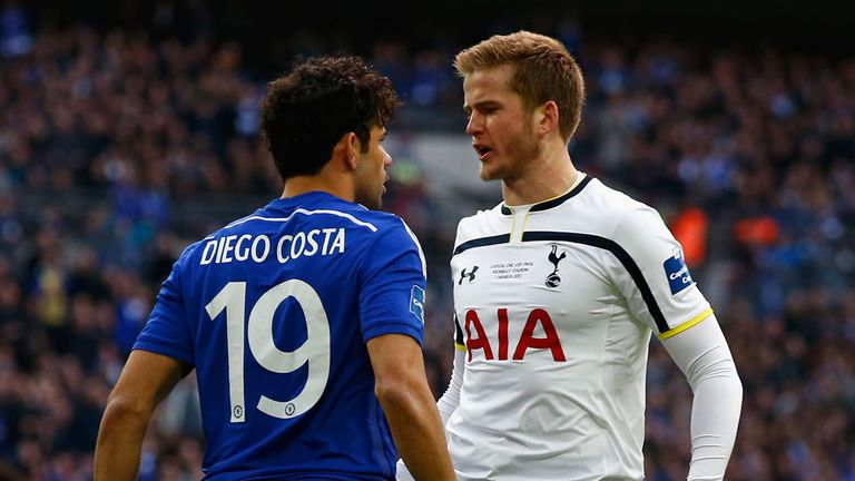 Eric Dier squares up to Diego Costa