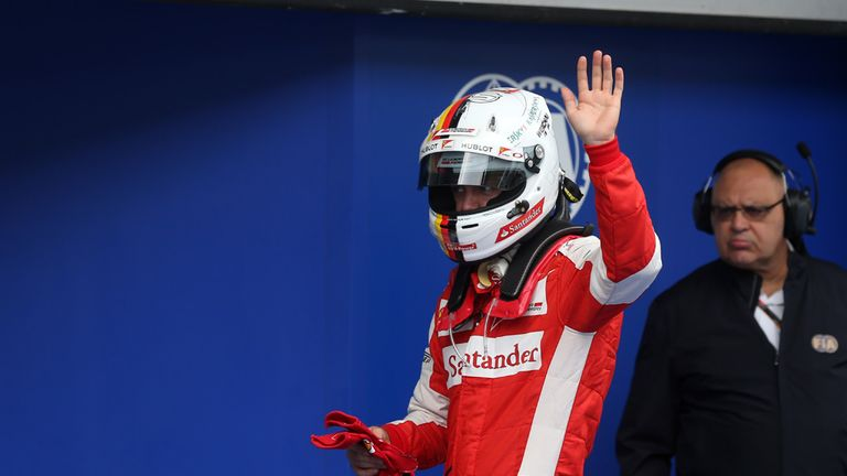 Sebastian Vettel claimed second ahead of Nico Rosberg