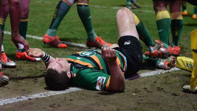 Northampton Saints star George North has suffered multiple concussions
