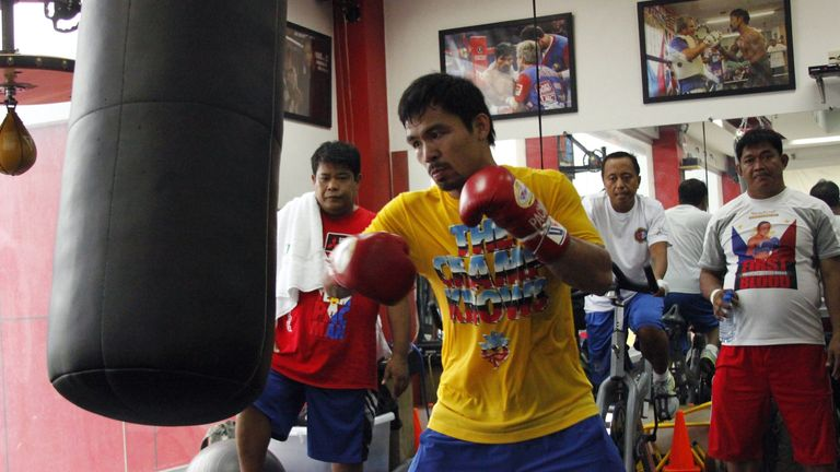 Manny Pacquiao: Stepping up training ahead of Floyd Mayweather fight