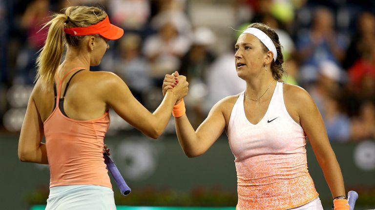 Maria Sharapova: Congratulated by Victoria Azarenka after win