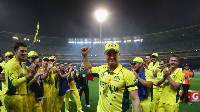 Michael Clarke: Australia captain feels the World Cup win will provide valuable momentum for this summer's Ashes series in England