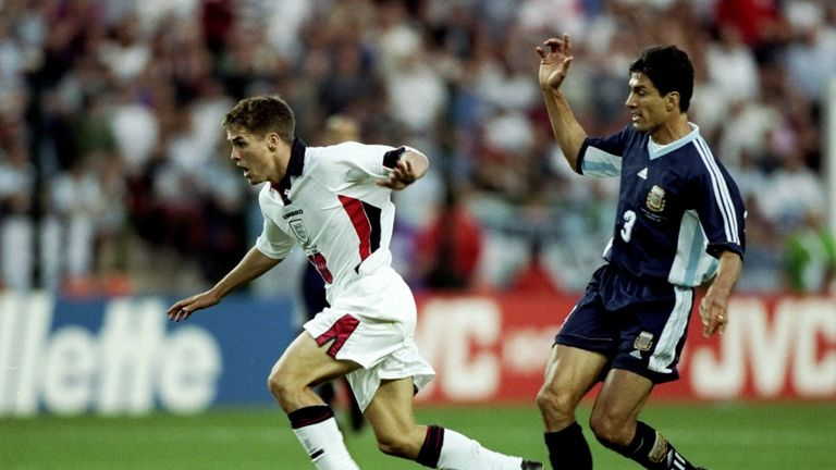 Michael Owen's goal against Argentina is one of the most famous in England's World Cup history