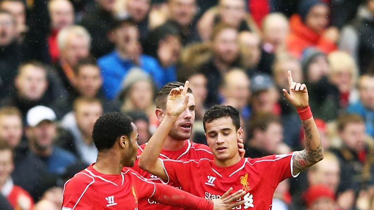 Sterling (20) and Coutinho (22) among Liverpool's young guns