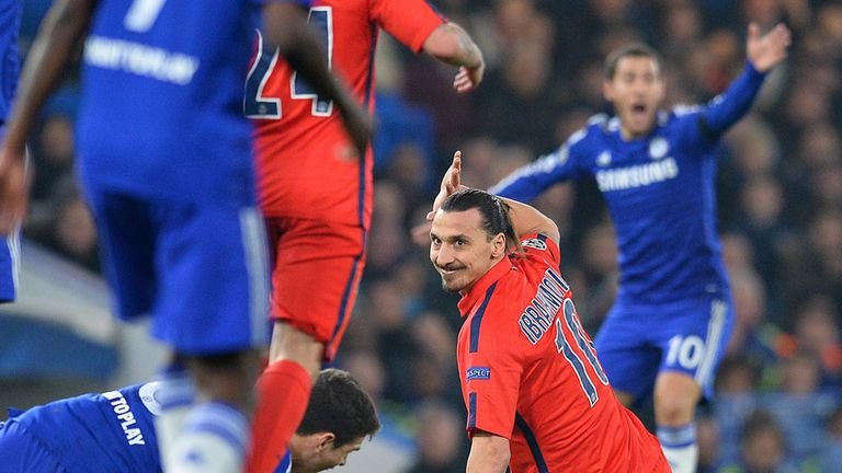 Zlatan Ibrahimovic will miss the first leg of PSG's quarter-final