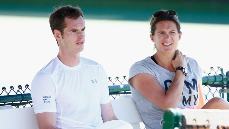 Amelie Mauresmo is due to give birth to her first child in August. The former World No 1 has been coaching Murray since last June.