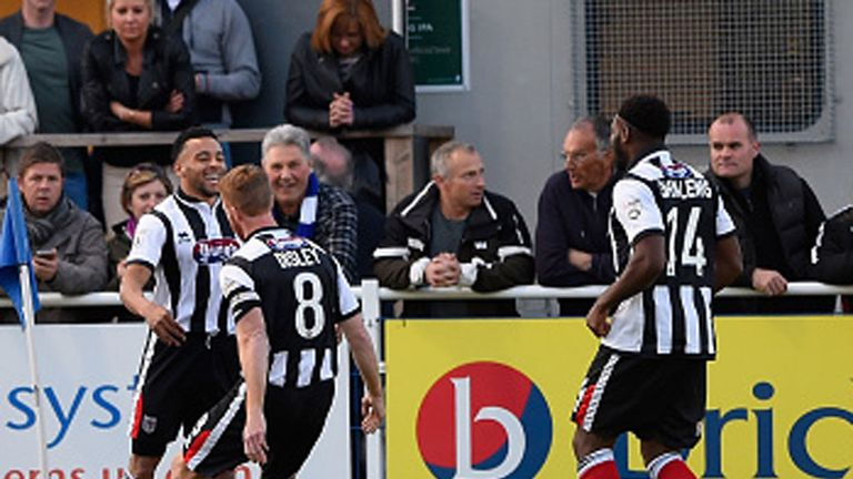 Nathan Arnold: Celebrates his first of two goals