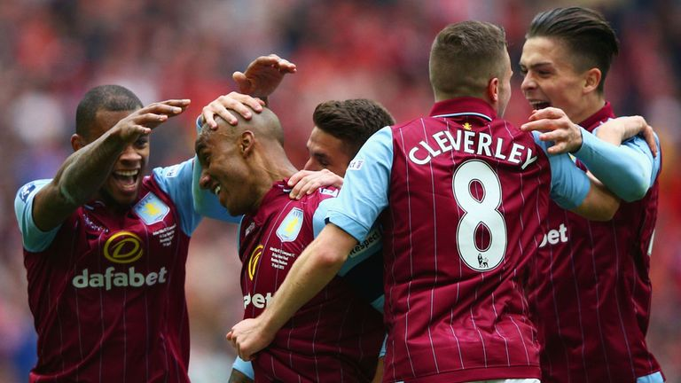 Fabian Delph scored Villa's second as they came from behind to win 2-1 and reach the final