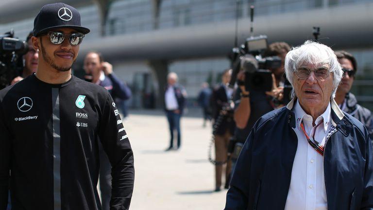 Lewis Hamilton and Bernie Ecclestone