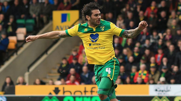 Bradley Johnson: Bagged a brace for the Canaries