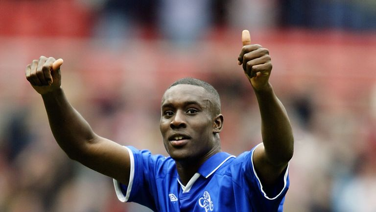 Carlton Cole of Chelsea acknowledges the fans at Stamford Bridge