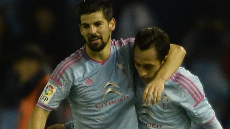 Nolito (l) scored the winning goal