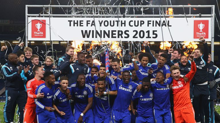 Chelsea celebrate their FA Youth Cup success