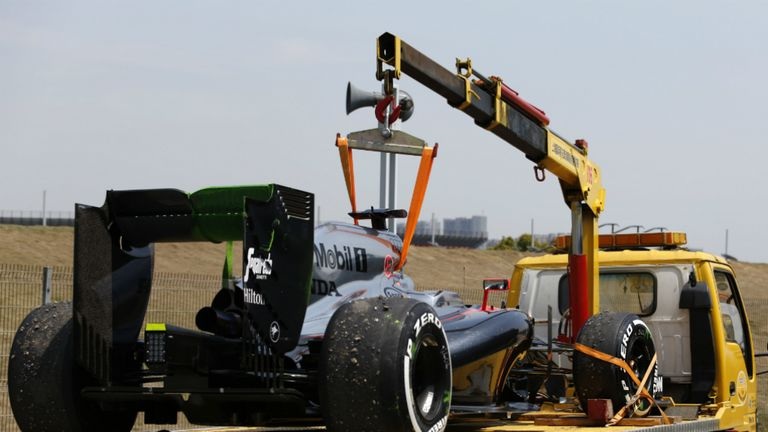 Alonso lost crucial track time during practice in China after an engine ignition fault