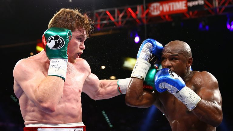 Canelo's only loss in 55 fights was against Floyd Mayweather