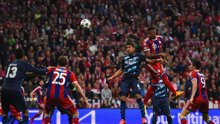Jerome Boateng scores Bayern's second to erase Porto's first-leg lead