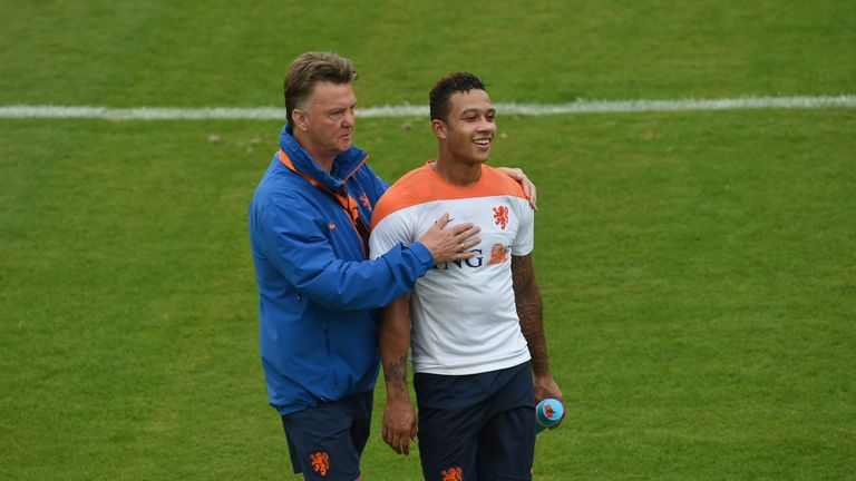 Louis van Gaal worked with Memphis Depay at the 2014 World Cup