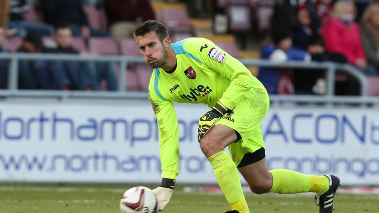 Rhys Evans in action for Exeter City during 2012/13 season