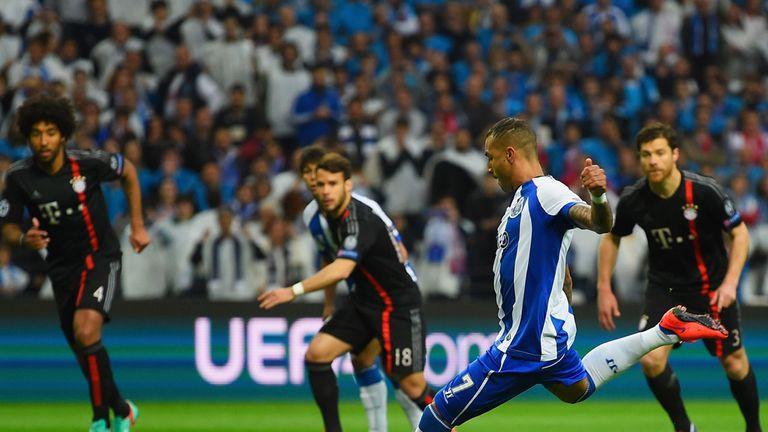 Ricardo Quaresma scores from the penalty spot