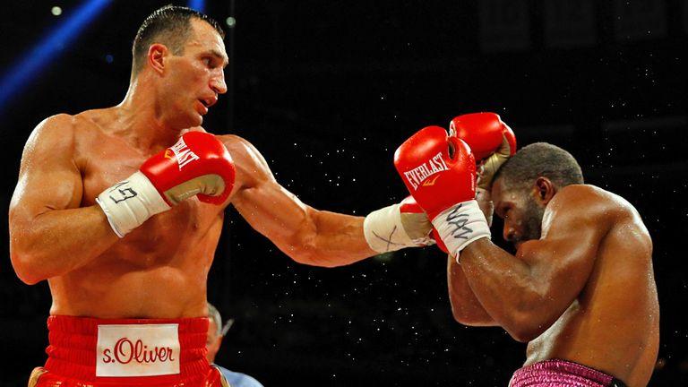 Wladimir Klitschko beating Bryant Jennings in April