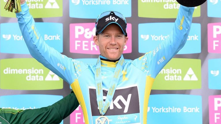 Team Sky Rider Lars-Petter Nordhaug celebrates his victory this year