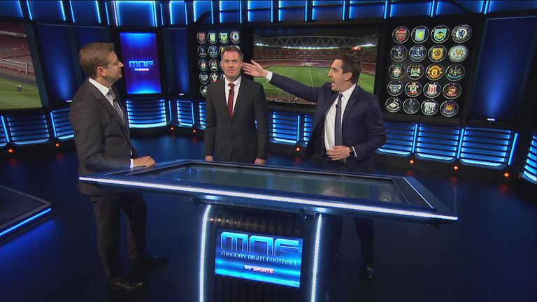 Gary used Jamie's head to show why Ospina should have dived with one hand, rather than two