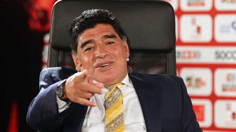 Diego Maradona at Soccerex Asian Forum