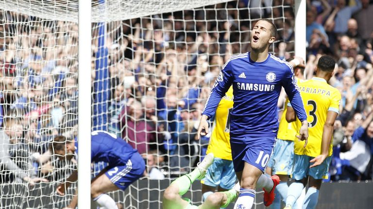 Eden Hazard's winner against Crystal Palace was his 37th Premier League goal since joining Chelsea