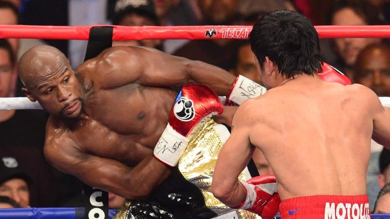 Pacquiao struggled to hit the elusive Mayweather