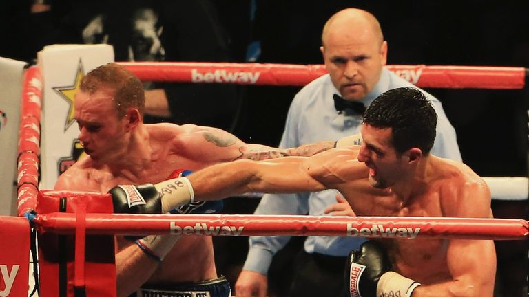 Froch says Eubank Jr had no problem with 'that right'