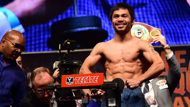 Manny Pacquiao: says Mayweather is worried