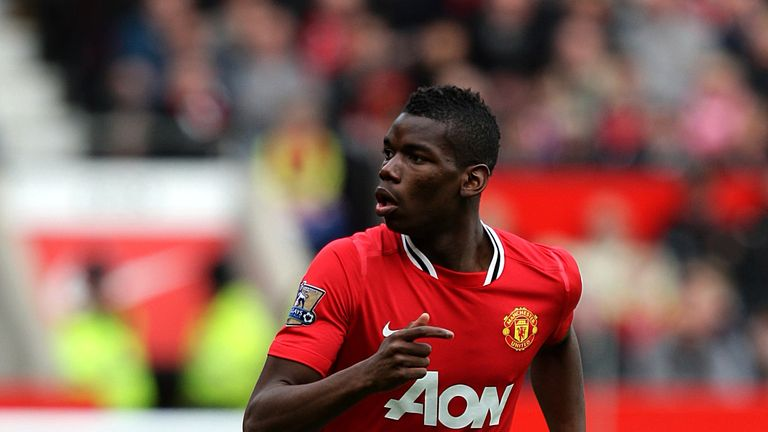 Pogba spent three years at Manchester United as a teenager