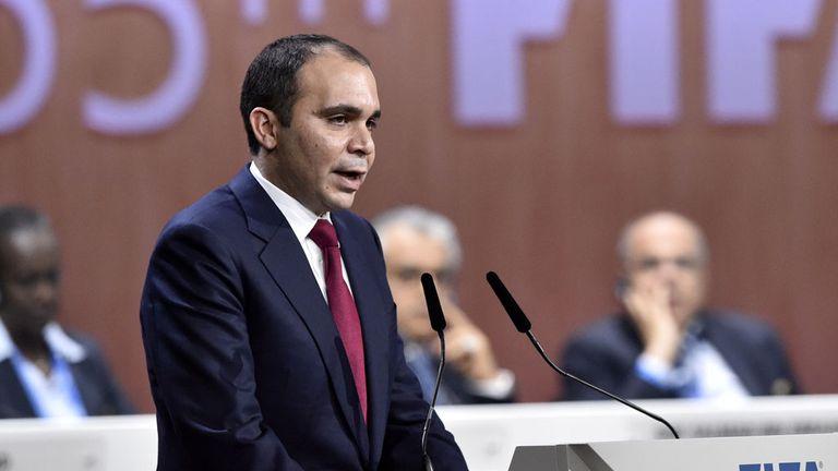 Prince Ali bin al Hussein challenged Blatter in last week's elections