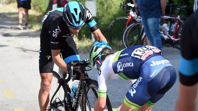 Richie Porte illegally received a replacement wheel from Orica-GreenEdge after his puncture