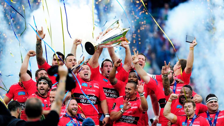Toulon celebrate their victory in the European Champions Cup Final