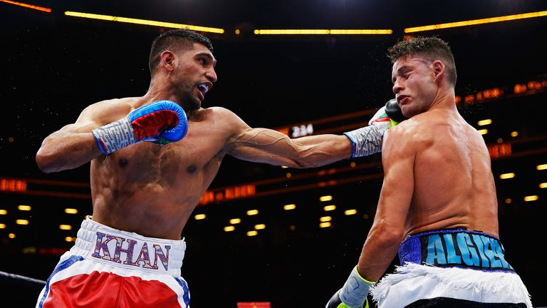 Khan beat Chris Algieri in his last contest as a welterweight