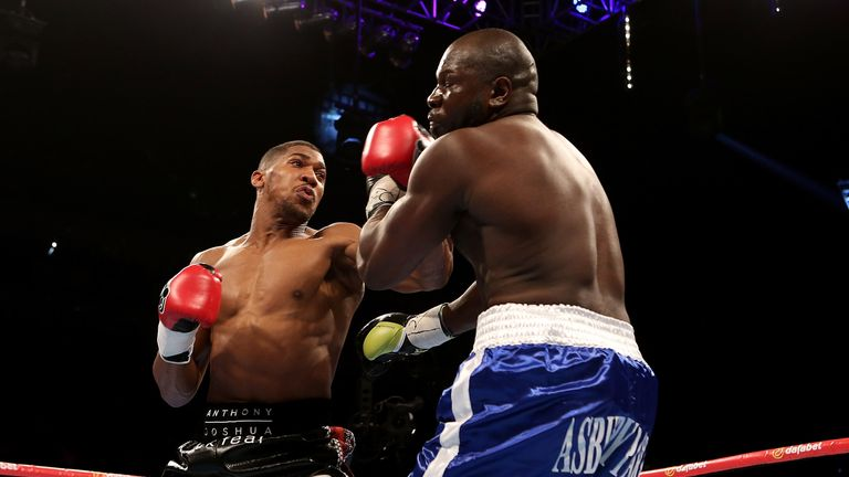 Joshua (left) will be paying attention to Whyte's performance, says McCrory