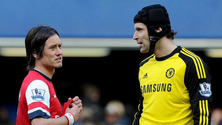 Tomas Rosicky and Petr Cech are teammates in the Czech Republic international side